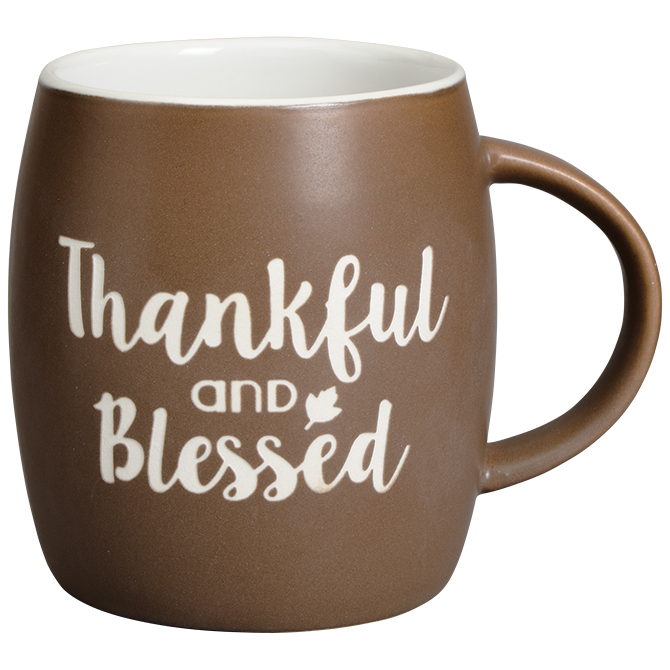 Thankful & Blessed Mug coffee mug, tea mug, prayer mug, ceramic mug, 14 oz mug, boxed mug, coffee cup, thankful and blessed, 68411