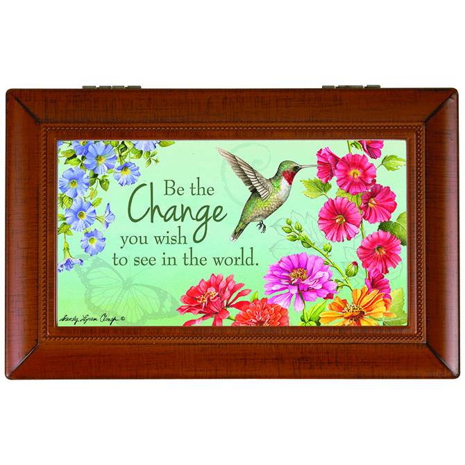 Be the Change Music Box music box, inspirational music box, trinket box, keepsake box, 18504