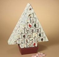 "17"" Wooden Woodland Advent Calendar advent calendar, holiday calendar, wood calendar, tree calendar, countdown to christmas, christmas item, advent item,"