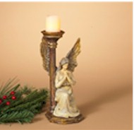 """13"""" Praying Angel Candleholder candle holder, angel, angel candle holder, table top display, christmas decoration, holiday decoration,"""