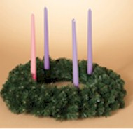 "20"" Balsam Pine Advent Wreath advent wreath, advent candle holder, advent candleholder, taper candle holder, advent season candle holder, seasonal wreath for candles,"