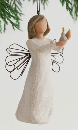 Willow Tree™ Angel of Hope Ornament Willow tree, figure, collectables, special occasion, sacramental, gift, statue, collection, carved, susan lordi,angel of hope, ornament, christmas d?cor, tree d?cor, holiday seasonal,27275