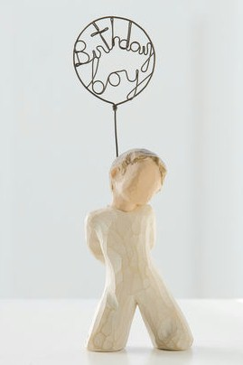 Willow Tree™ Birthday Boy Figure Willow tree, figure, collectables, special occasion, sacramental, gift, statue, collection, carved, susan lordi,birthday, boy, child,26196