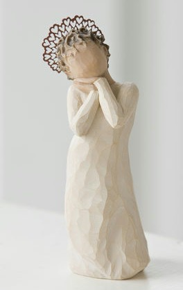 Willow Tree™ Angel Love Figure Willow tree, figure, collectables, special occasion, sacramental, gift, statue, collection, carved, susan lordi,angel love26234