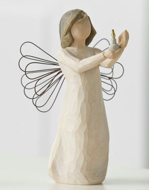 Willow Tree™ Angel Of Hope Figure Willow tree, figure, collectables, special occasion, sacramental, gift, statue, collection, carved, susan lordi,angel of hope, illness, despair26235
