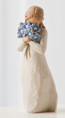 Willow Tree™ Forget-Me-Not Figure Willow tree, figure, collectables, special occasion, sacramental, gift, statue, collection, carved, susan lordi,forget me not, flowers,26454