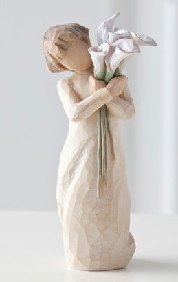 Willow Tree™ Beautiful Wishes Figure Willow tree, figure, collectables, special occasion, sacramental, gift, statue, collection, carved, susan lordi,beautiful wishes,26246