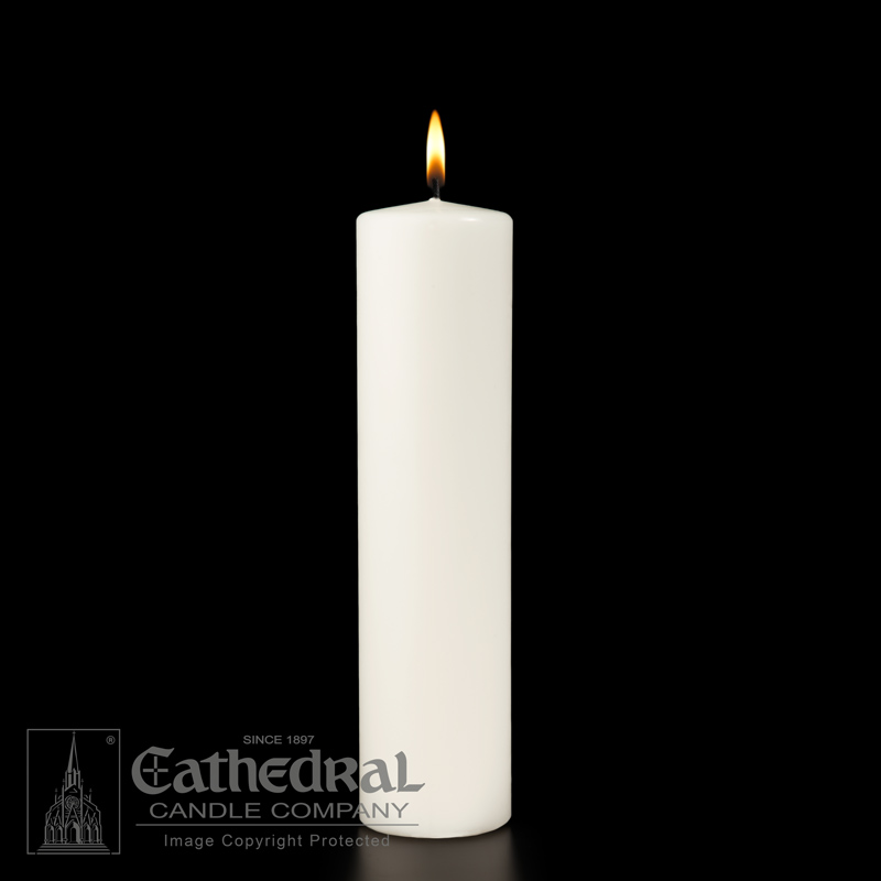 White Ceremonial Pillar Candle White Ceremonial Pillar Candle,31195001,84678602954