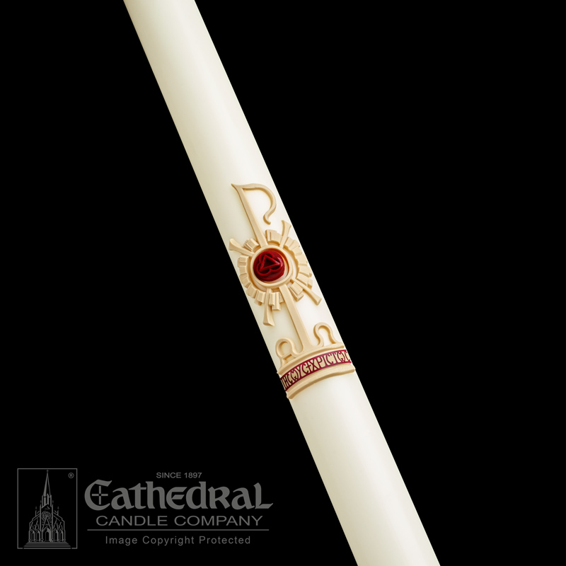 Holy Trinity® Paschal Candle Paschal Candle, Easter Candle, Paschal, Easter, Cathedral Candle,Sculptwax, Holy Trinity, Beeswax, candle, Beeswax candle, Easter Vigil,80502001,80503001,80503501,80504001,80504201,80505201,80504501,80505001,80506001,80507001,80508001,80506501,80508501,80510001,80509001,80511001,80515001,80520001