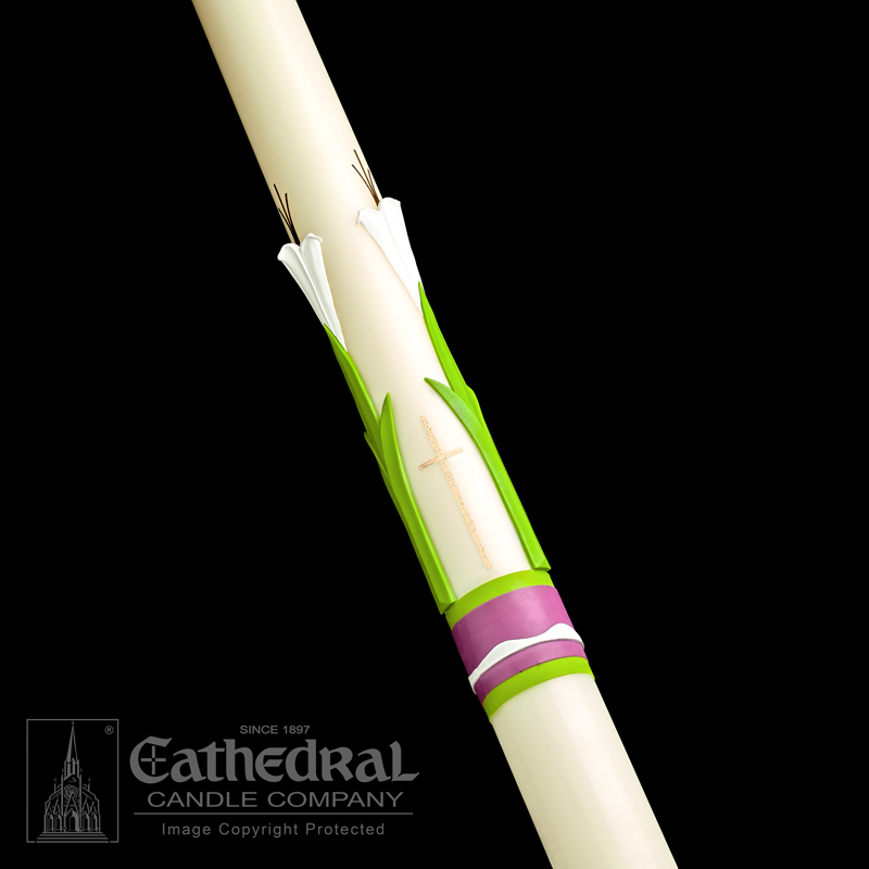 Easter Glory® Paschal Candle Paschal Candle, Easter Candle, Paschal, Easter, Cathedral Candle,Sculptwax, Easter Glory, Beeswax, candle, Beeswax candle, Easter Vigil,80702001,80703001,80703501,80704001,80704201,80705201,80704501,80705001,80706001,80707001,80708001,80706501,80708501,80710001,80709001,80711001,80715001,80720001