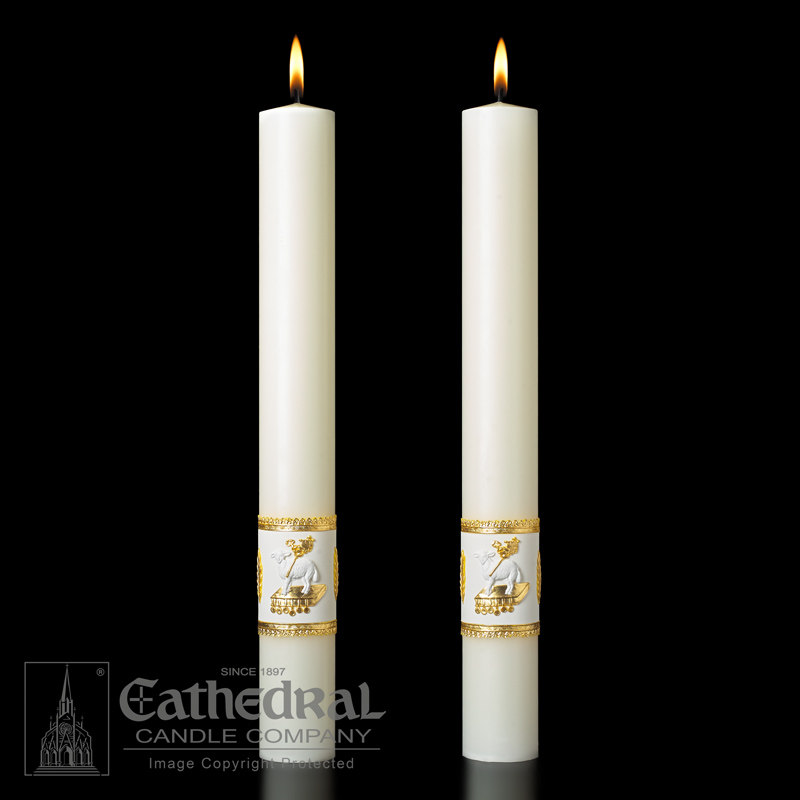 Ornamented Complementing Altar Candles Ornamented Complementing Altar Candles,80912502,80912602,80915502,80915602