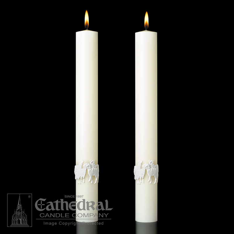 The Good Shepherd™ Complementing Altar Candles The Good Shepherd™ Complementing Altar Candles,80986225,80986226,80986255,80986256