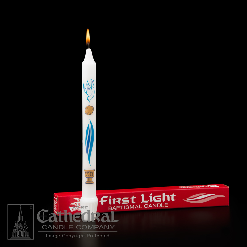 First Light® Baptism Candle - 60285