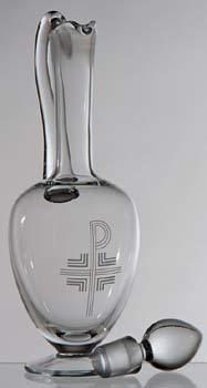 K1268 Engraved Crystal Flagon K1268 Engraved Crystal Flagon
