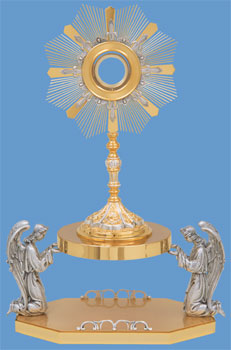 K2514 Ostensorium K2514 Ostensorium, monstrance, ostensorium, luna, thabor, exposition, host, chapel monstrance