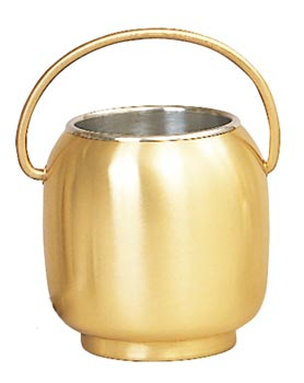 K388 Holy Water Pot w/Sprinkler and Liner K388 Holy Water Pot w/Sprinkler and Liner, aspergillum, holy water bucket