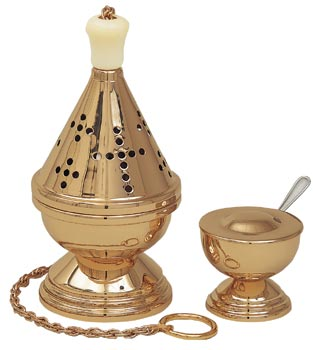K601 Censer & Boat K601,censer and boat,censer,boat,boat with spoon,incense spoon,eastern rite censer and boat,incense burner,incense,charcoal,