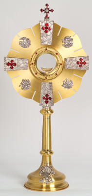 K682 Monstrance K682 Monstrance, monstrance, ostensorium, luna, thabor, exposition, host, chapel monstrance