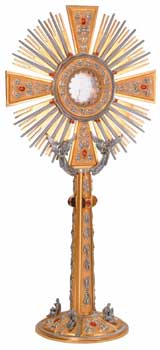 K710 Monstrance K710 Monstrance, monstrance, ostensorium, luna, thabor, exposition, host, chapel monstrance