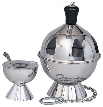 K901 Censer & Boat K901,censer and boat,censer,boat,boat with spoon,incense spoon,eastern rite censer and boat,incense burner,incense,charcoal,