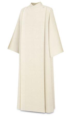 11-77 Front Wrap Alb in Beige Greco Fabric Alb, vestment, Slabbinck, Belgium, Albs, coat style, Front Wrap Alb, 11-77, 11/77,  Greco, priest garment
