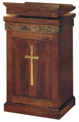 1420 Lectern lectern, pulpit, church furniture, church goods, lecter table, wood lectern, wood pulpit, preacher stand, 1420