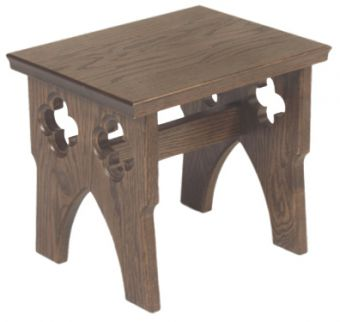1130 Server Stool church furniture, church goods, furniture, wood furniture, stool, server stool, altar stool, 1130