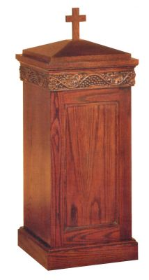 1409 Baptismal Font church furniture, church goods, furniture, wood furniture, font, baptismal font, finishes, church baptism,1409