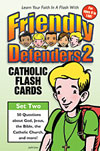 Friendly Defenders 2 Flash Cards matthew pinto, katherine andes, flash cards, catholic facts, game, youth game, catholic faith, youth faith cards,
