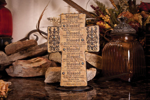 Beatitudes Cross beatitudes, cross, standing cross, wall cross, decorative cross,FC-1318