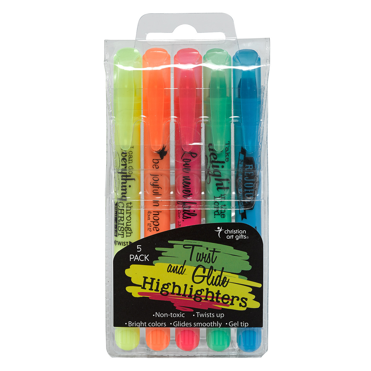 Twist and Glide Highlighter Set markers, bible markers, colored pencils, highlighters, HL013