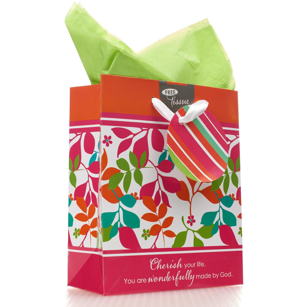 Cherish you Life Small Gift Bag gift bag, small gift bag, tissue and bag, gift wrap, GBA008