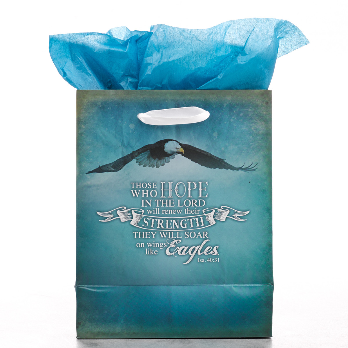 On Wings Like Eagles Small Gift Bag gift bag, small gift bag, tissue and bag, gift wrap, GBA044