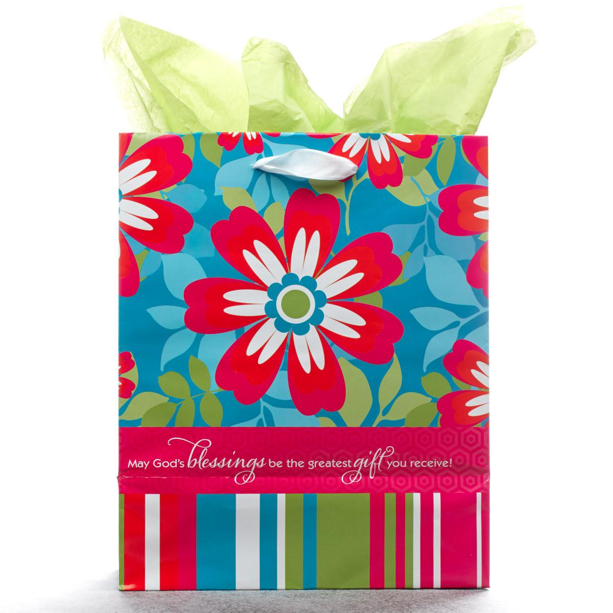 God%27s Blessings Medium Gift Bag gift bag, medium gift bag, tissue and bag, gift wrap, GBA003