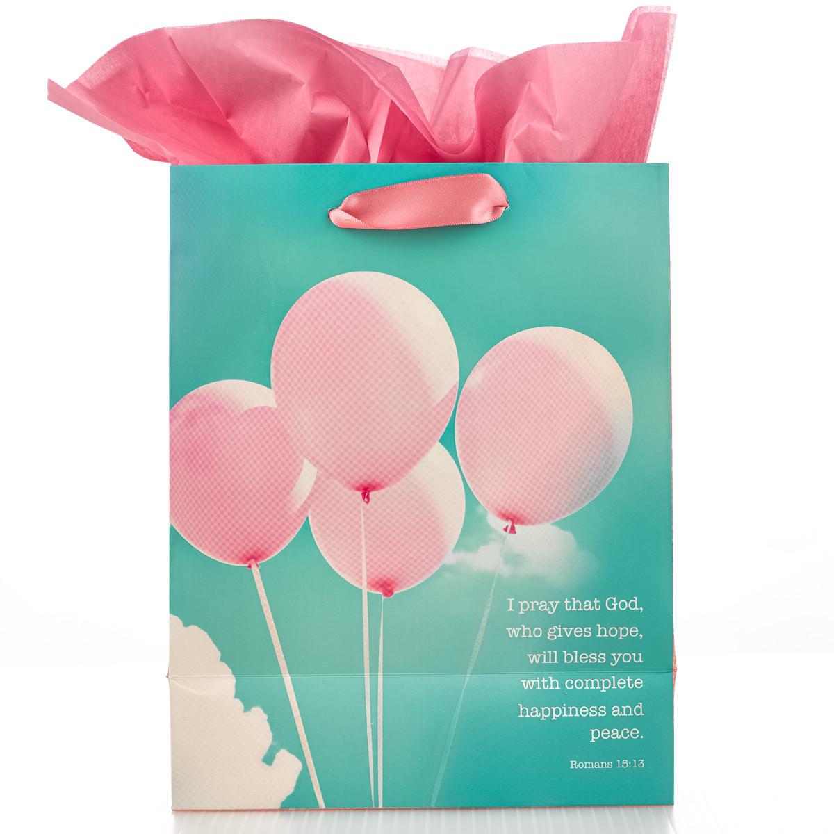 May God bless you Medium Gift Bag gift bag, medium gift bag, tissue and bag, gift wrap, GBA055