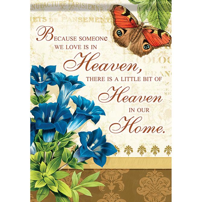 Heaven in Our Home Garden Flag garden flag, yard flag, small flag, welcome flag, house d?cor, home d?cor, 46085