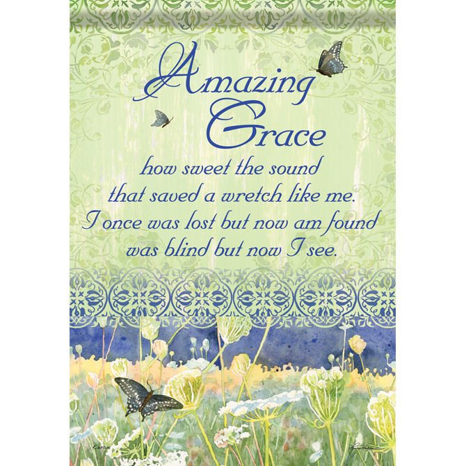 Amazing Grace Garden Flag garden flag, house flag, occasion flag, outdoor flag, landscape, decorative flag, yard flag, new house gift, holiday gift, patriotic, memorial45404