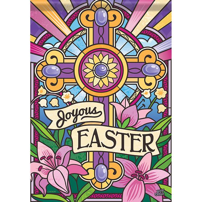 Joyous Easter Garden Flag