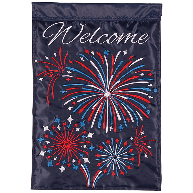 Fireworks Garden Flag garden flag, house flag, occasion flag, outdoor flag, landscape, decorative flag, yard flag, new house gift, holiday gift, fireworks, fourth of july,55265