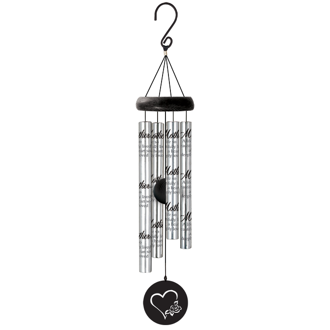 """21"""" Wind Chime Mother wind chime, outdoor d?cor, porch chime, new home gift, house warming gift, mother, mothers day,62987"""