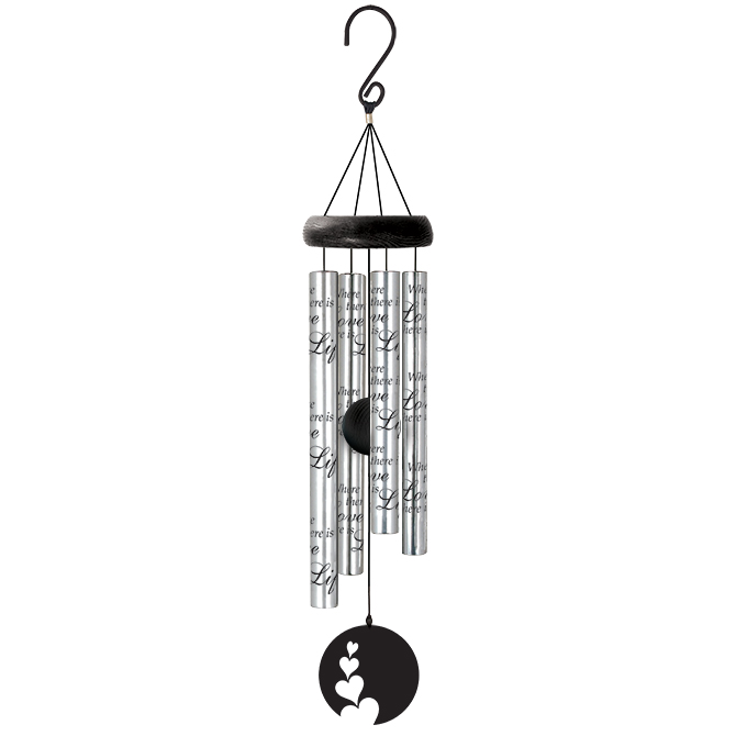 "21"" Wind Chime Love wind chime, outdoor d?cor, porch chime, new home gift, house warming gift, love,62988"