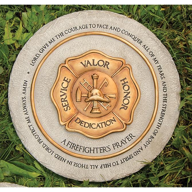 Garden Prayer Stepping Stone, Firefighter%27s garden stone, stepping stone, concrete stone, yard d?cor, memorial stone, loved one,firefighter, fireman,11260