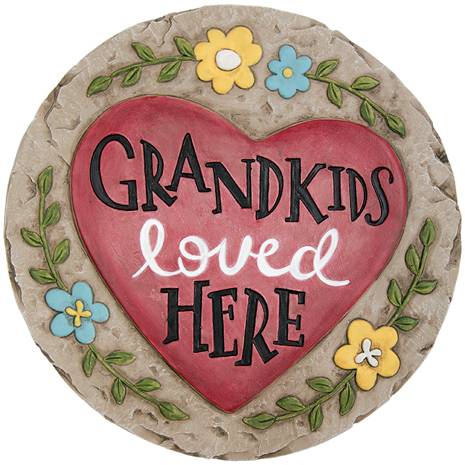 Grandkids Garden Stone garden stone, stepping stone, concrete stone, yard d?cor, memorial stone, loved one, grandkids, grandchildren,11137
