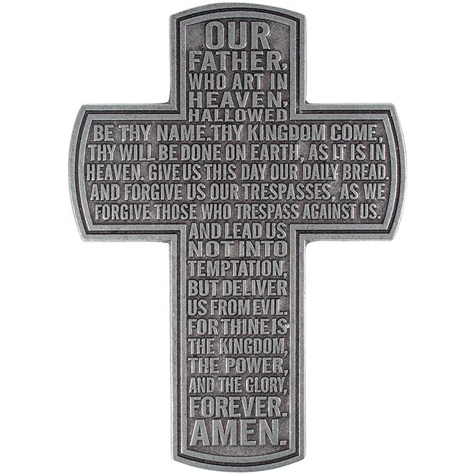 """12"""" Lord%27s Prayer Statesmetal Cross cross, standing cross, pedestal cross, faith cross, home d?cor, 11838"""