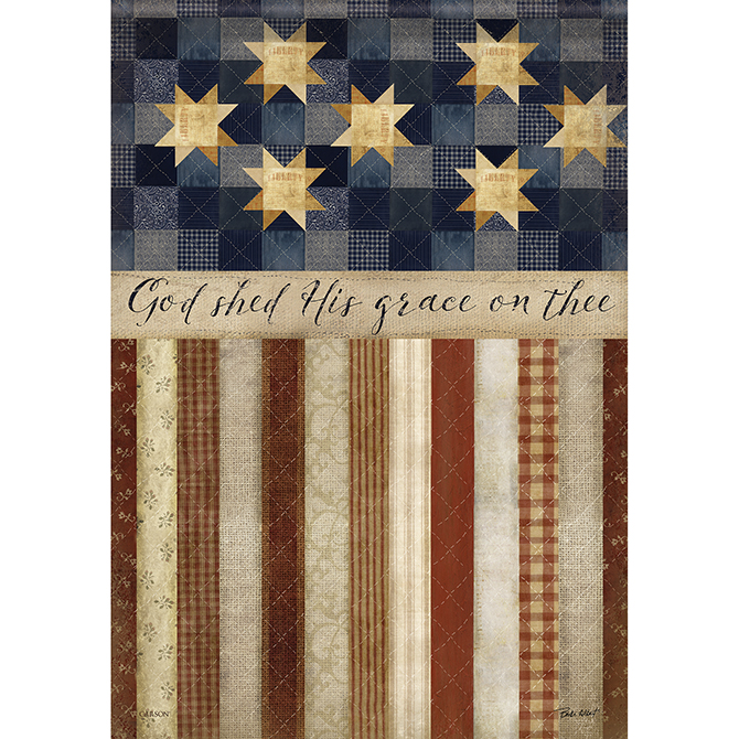 God Shed His Grace House Flag garden flag, house flag, occasion flag, outdoor flag, landscape, decorative flag, yard flag, new house gift, holiday gift, patriotic, memorial48181