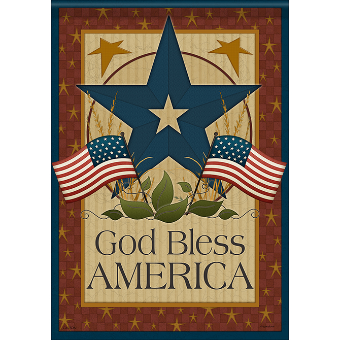 God Bless Barn Star Garden Flag garden flag, house flag, occasion flag, outdoor flag, landscape, decorative flag, yard flag, new house gift, holiday gift, patriotic, memorial46492