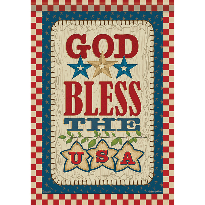 God Bless the USA Garden Flag garden flag, house flag, occasion flag, outdoor flag, landscape, decorative flag, yard flag, new house gift, holiday gift, patriotic, memorial46520