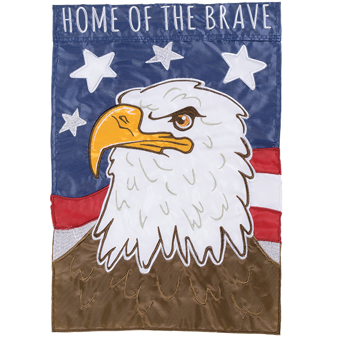 Home of the Brave Garden Flag garden flag, house flag, occasion flag, outdoor flag, landscape, decorative flag, yard flag, new house gift, holiday gift, patriotic, america55304