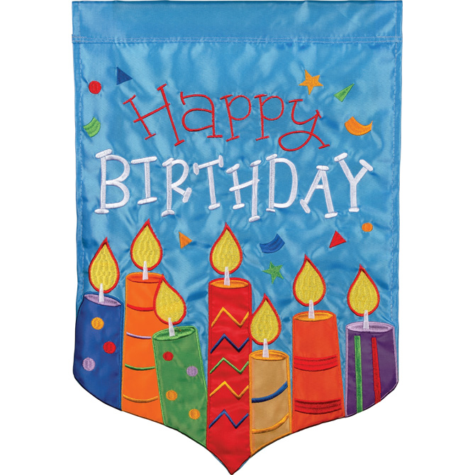 Birthday Candles Garden Flag garden flag, house flag, occasion flag, outdoor flag, landscape, decorative flag, yard flag, new house gift, holiday gift, birthday, special day55216