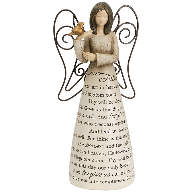 Lord's Prayer Sonnet Angel angel, angel figurine, sonnet angel, home decor, prayer angel, our father angel, 13991